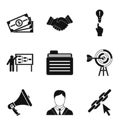 Online marketplace icons set simple style vector