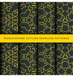 outline abstract seamless pattern set vector image