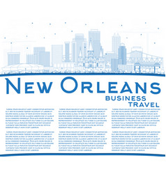 Outline new orleans louisiana city skyline with vector