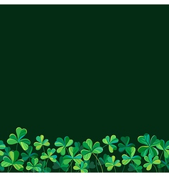 pattern clover border vector image