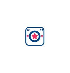 photography modern camera logo vector image