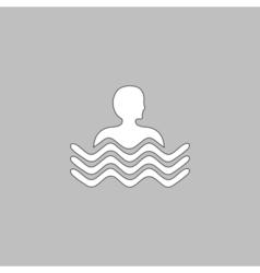 Pool computer symbol vector image