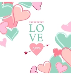 Post card for Valentine s day vector image