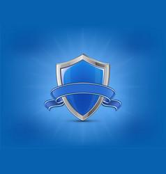 Protection concept blue vector