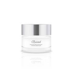 realistic cream jar vector image
