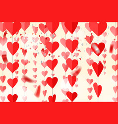red hearts on rope vector image