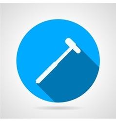 Reflex hammer flat round icon vector