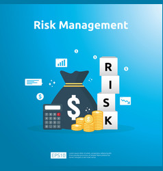 Risk management and financial identifying vector