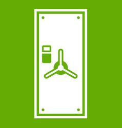 safe door icon green vector image