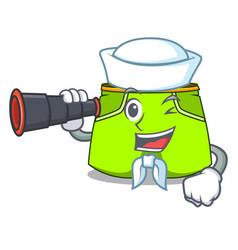 Sailor with binocular cartoon shorts style for the vector