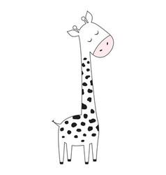 Scandinavian print with cute giraffe vector