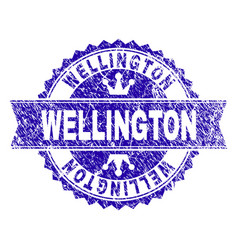 Scratched textured wellington stamp seal with vector