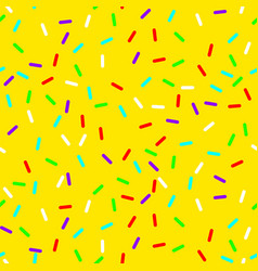 seamless background with yellow donut glaze vector image