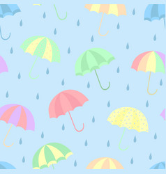 seamless umbrella pattern vector image