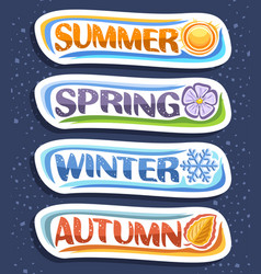 Set for four seasons vector