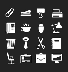 Set icons of office vector image