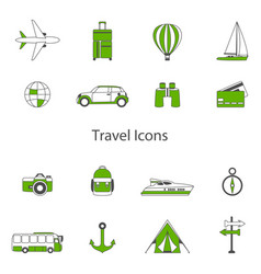 set line flat icons sign and symbols of vector image
