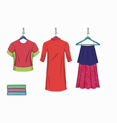 Set of trendy women s things vector