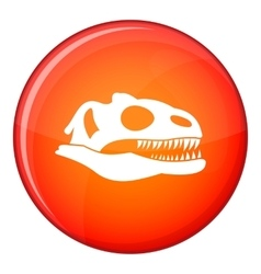 Skull of dinosaur icon flat style vector