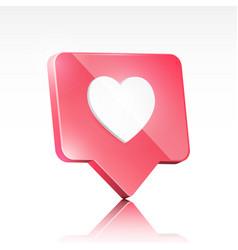 social media like 3d design isometric icon vector image