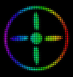 Spectrum dotted drone screw icon vector