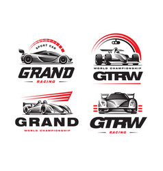 sport cars set on white background vector image vector image