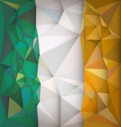 stylized flag of ireland vector image