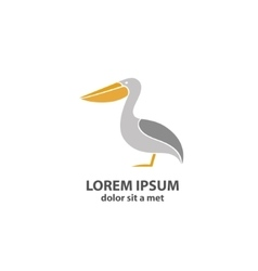 Stylized silhouette of a Pelican vector