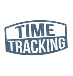 time tracking sign or stamp vector image
