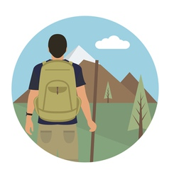 Tourist vector image