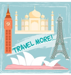 travel object vector image