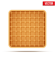 Waffle symbol and icon vector