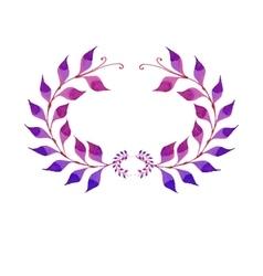 Watercolor purple plant vector image