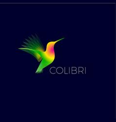 Yellow colibri logo vector