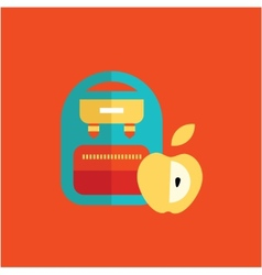 blue school backpack vector image vector image
