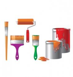 set of repair instruments vector image vector image