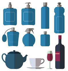 Bottle collection vector image vector image