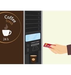 Coffee vending machine vector image