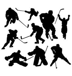 hockeyplayers vector image