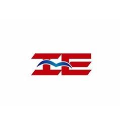 iE company logo vector image