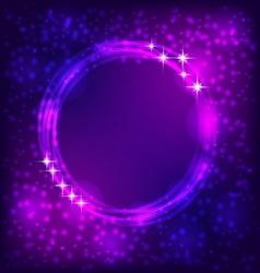 Shining circle border vector image