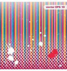 Striped Grunge background A vintage poster vector image