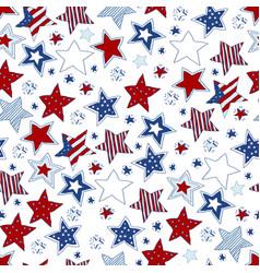 vintage doodle stars seamless pattern vector image vector image