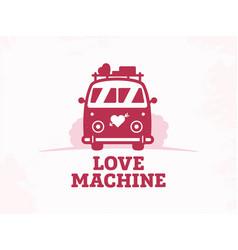 modern professional sign logo love machine vector image
