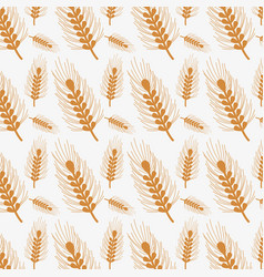 nice emblem of wheat branch design background vector image