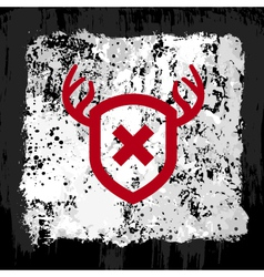 red shield grunge design vector image vector image