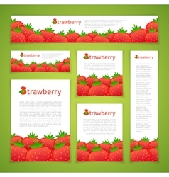 Set of Strawberry Banners vector image vector image