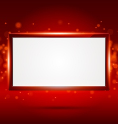 red frame vector image