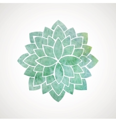 Watercolor flower in green blue colors vector image vector image