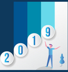 2019 modern background template vector image